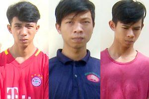Bắt ba thanh niên thực hiện nhiều vụ cướp giật