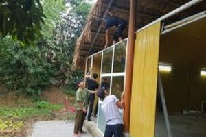 Tháo dỡ công trình vi phạm tại Khu sinh thái Thu Cúc Garden