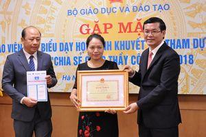 48 giáo viên tiêu biểu được Bộ trưởng Bộ Giáo dục và Đào tạo tặng Bằng khen