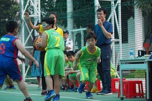 Hấp dẫn vòng chung kết Bóng rổ Học sinh tiểu học Hà Nội 2018