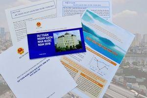 Bộ Tài chính công bố Báo cáo ngân sách dành cho công dân về Dự toán ngân sách nhà nước năm 2019
