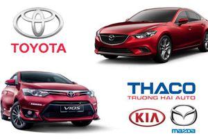 Doanh số ô tô tháng 10: Toyota lần đầu vượt Thaco