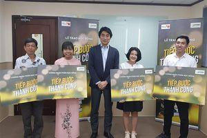 Hoàn tất chặng đường trao học bổng Tiếp bước thành công của Sapporo Việt Nam