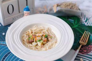 Hướng dẫn mẹ làm món mì nấm - cá tuyết, bổ sung DHA cho bé THÔNG MINH, MAU LỚN