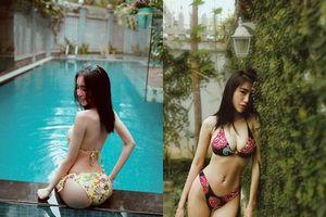 Bị chê gầy tong teo, Elly Trần tung ảnh diện bikini bé xíu đáp trả cực khéo