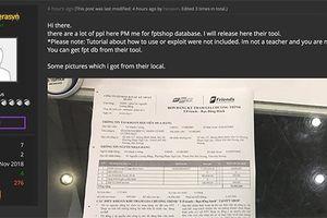 Hacker tung dữ liệu nghi là của khách hàng FPT Shop