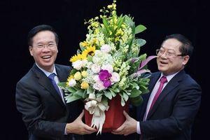 Trưởng Ban Tuyên giáo T.Ư Võ Văn Thưởng thăm báo Tiền Phong
