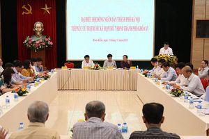 Chủ tịch UBND thành phố Nguyễn Đức Chung tiếp xúc cử tri quận Hoàn Kiếm