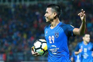 Safawi Rasid thể hiện kỹ thuật siêu hạng bằng bàn thắng tại SEA Games