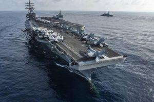 2 tàu sân bay Mỹ, 150 tiêm kích tập trận trên Biển Philippines