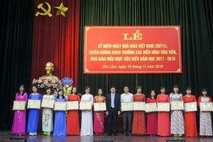 Huyện Gia Lâm tuyên dương, khen thưởng các điển hình nhà giáo mẫu mực, tiêu biểu