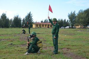 Bộ đội Biên phòng tỉnh Thái Bình kiểm tra bắn đạn thật năm 2018