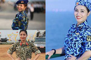 Hình ảnh xinh lung linh của MC Hoàng Linh khi diện áo lính