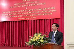 Bộ Xây dựng tổ chức lễ Hưởng ứng Ngày pháp luật Việt Nam