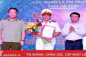 Trao quyết định thành lập Cục Quản lý thị trường Hà Tĩnh