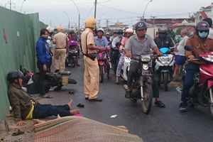 Vợ tử vong, chồng bị thương nặng do bị xe tải cán trên đường về quê