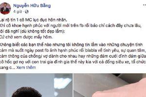 Chia sẻ bất ngờ của MC Hữu Bằng khiến nhiều người nghĩ ngay đến MC Hoàng Linh và chồng sắp cưới