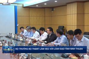 Bộ trưởng Bộ TN&MT làm việc với lãnh đạo tỉnh Ninh Thuận