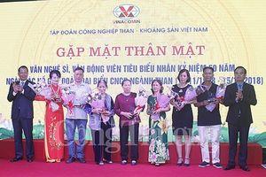 Tri ân các thế hệ văn nghệ sỹ, vận động viên tiêu biểu đóng góp cho sự phát triển của ngành Than và tỉnh Quảng Ninh