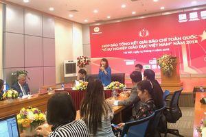 43 tác phẩm đoạt giải cuộc thi Vì sự nghiệp Giáo dục Việt Nam