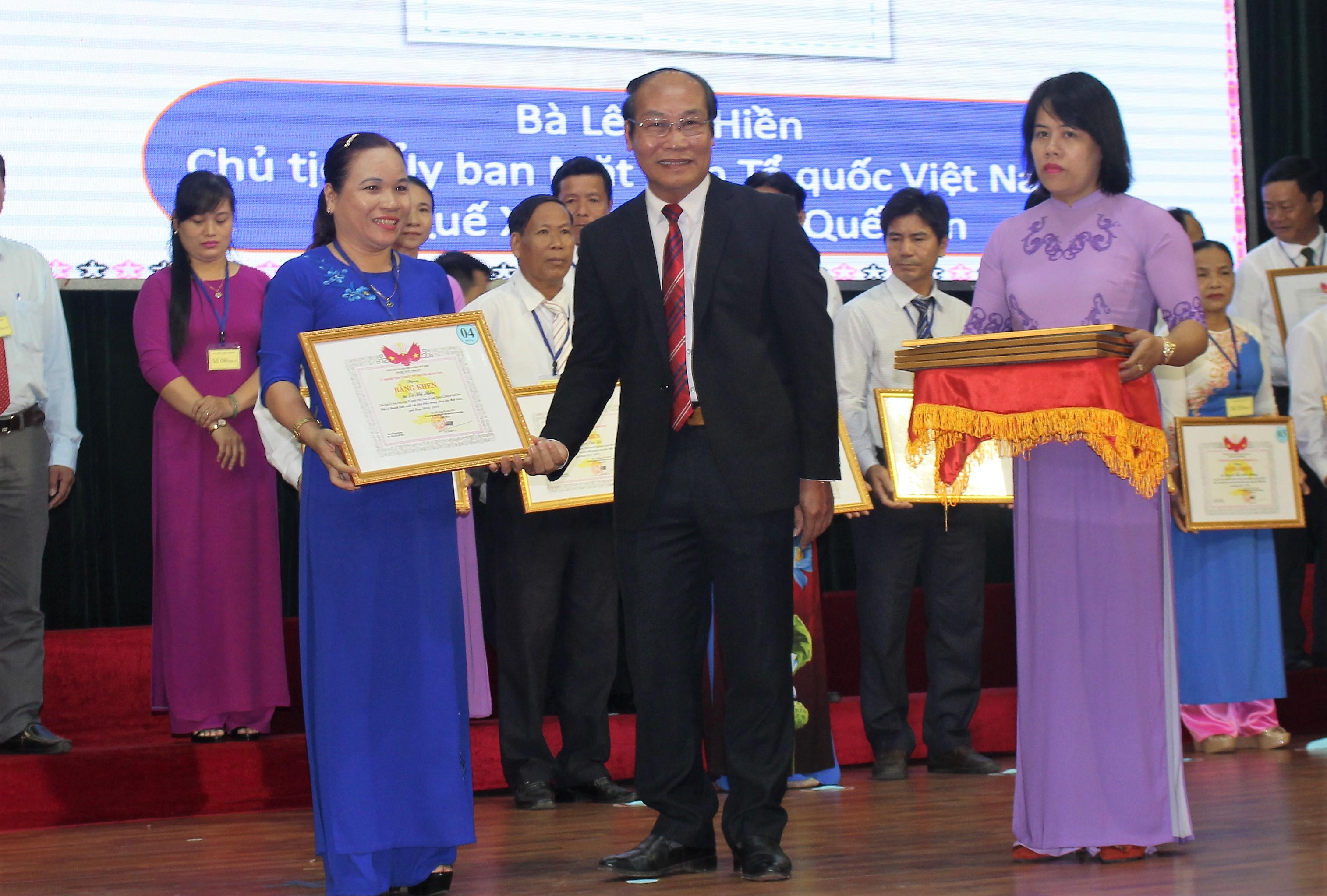 MTTQ Quảng Nam: Biểu dương 117 cán bộ Mặt trận cơ sở tiêu biểu
