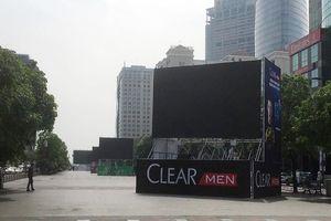 Lắp 5 màn hình lớn trên phố Nguyễn Huệ chiếu trận VN-Malaysia