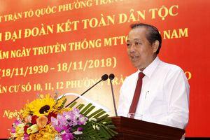 Phó Thủ tướng Thường trực: Củng cố khối đại đoàn kết từ mỗi cộng đồng dân cư