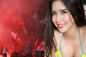 Việt Nam đánh bại Malaysia: Á hậu có vòng ba 1m nói gì về việc fan đốt pháo sáng?