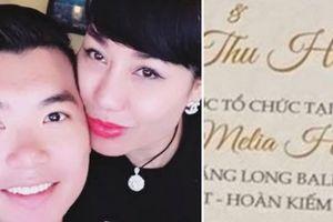 Trương Nam Thành tổ chức tiệc cưới 5 sao với nữ đại gia Hà Nội
