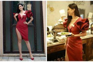 Trần Tiểu Vy khoe 3 vòng đẹp ngất ngây với váy bó, xẻ đùi cao