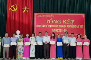 Thái Nguyên: 219 giáo viên đạt danh hiệu giáo viên dạy giỏi