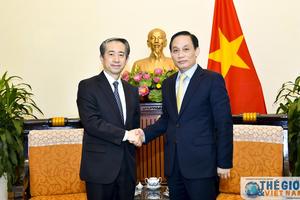 Thứ trưởng Ngoại giao Lê Hoài Trung tiếp Đại sứ Trung Quốc đến chào xã giao