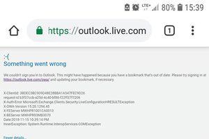 Dịch vụ Outlook Mail gặp sự cố không thể sử dụng