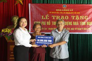 Báo Công lý hỗ trợ kinh phí xây nhà tình nghĩa cho gia đình chính sách tại Hà Tĩnh