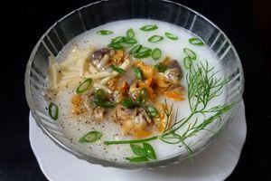 Cách nấu cháo sò huyết thơm ngon, bổ dưỡng