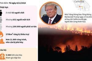 Cháy rừng tại California ngày càng nghiêm trọng
