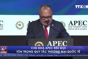 Chủ nhà APEC kêu gọi tôn trọng quy tắc thương mại quốc tế