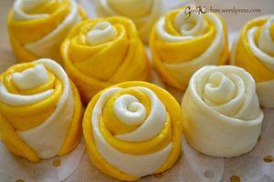 Khó kìm lòng trước món bánh bao hoa hồng rực rỡ sắc màu