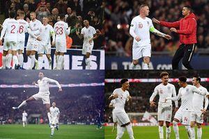 Toàn cảnh Anh 3-0 Mỹ: Rooney được fan cuồng lao vào sân tri ân