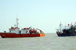 Bàn giao 10 thuyền viên cùng tàu cá bị nạn cho Nghệ An
