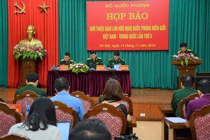 Giao lưu hữu nghị quốc phòng biên giới Việt Nam - Trung Quốc lần thứ 5 diễn ra từ ngày 19 đến 21-11