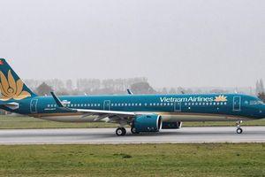 A321neo của Vietnam Airlines đã cập 'bến Nội Bài'