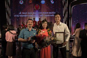 Báo Lao Động đoạt Giải A báo chí 'Vì sự nghiệp giáo dục Việt Nam'