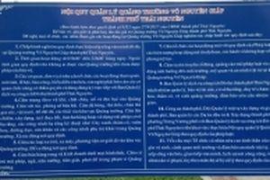Hãy trả lại cảnh quan văn hóa cho Quảng trường Võ Nguyên Giáp ở Thái Nguyên