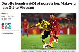 Báo chí Malaysia viết gì về trận thua trước đội tuyển Việt Nam?