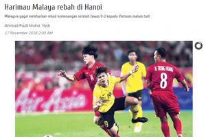 Báo Malaysia ca ngợi chiến thắng của tuyển Việt Nam