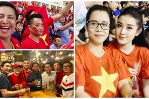 Loạt sao Việt ăn mừng 'bá đạo' sau chiến thắng của đội tuyển Việt Nam