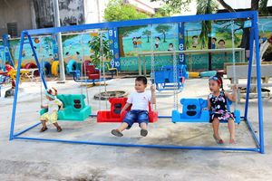 Hỗ trợ 2 khu vui chơi cho học sinh vùng sâu, vùng xa