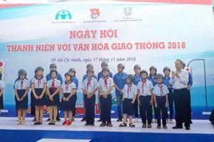 Hàng nghìn thanh thiếu niên TP.HCM tham gia ngày hội văn hóa giao thông