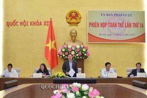 Ủy ban Pháp luật của Quốc hội tổ chức Phiên họp toàn thể lần thứ 14
